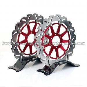 6 Holes Motorcycle Brake Disc , Disk Brake System With Laser Logo Manufactures