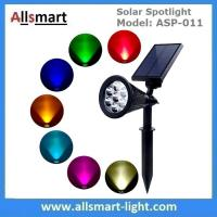 Solar Spotlights 7 LED Changing Color Garden Solar Lights Outdoor Bright Dark Sensing Auto On/Off In-ground Light Manufactures