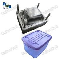 Plastic injection mould for clothes collection boxes