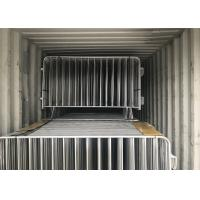Hot Dipped Galvanized Crowd Control Barriers 1090mm x 2500mm 14 microns hdg pre-galvanized cold zinc painted at welds Manufactures