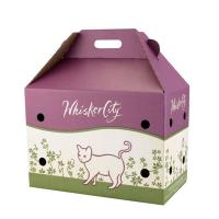Litho Color Printed Pet Carrier Box Made of Corrugated Board Manufactures