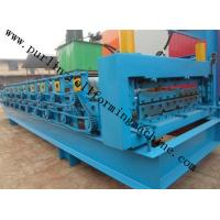 High Efficiency Double Layer Cold Roll Forming Machine for Roofing Tile / Wall Panel Manufactures