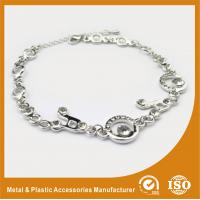 Environmental Zinc Alloy Silver Chain Bracelet Two Colors Plating 15mm Manufactures