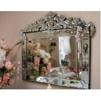 Hanging Large Venetian Wall Mirror Etching Flowers Bridal Wedding Design Manufactures