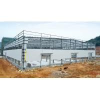 Hot - dipped Galvanized C & Z Beams Garage Steel Frame House-Light steel frames Manufactures