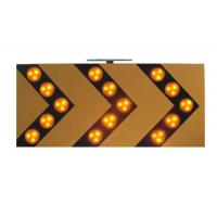 Sequencially 18V 3W Traffic Arrow Boards , Warning LED Solar Traffic Signs Manufactures