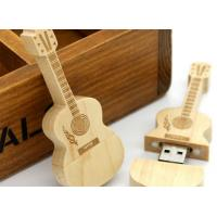 Buy cheap Guitar shaped USD 3.0 personalized flash drive gift with laser engraved logo from wholesalers