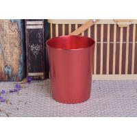 Decoration Red Copper V Shaped Cup Metal Candle Jar Tin Candle Containers Manufactures