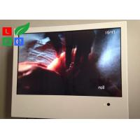 White Frame Advertising Monitors LCD , USB Connection LCD Advertising Player Manufactures
