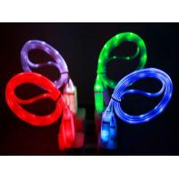 Buy cheap USB LED Light Cable Sync Data Charge Charging Cable Cord for iphone 6 samsung J7 from wholesalers