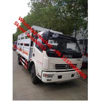 Quality LHD/RHD stake van truck for transporting gas cylinders for sale, hot sale best price dongfeng gas canister van truck for sale