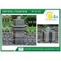 Glass Rolling Ball Small Garden Water Features , Different Shape Granite Ball Fountain Manufactures