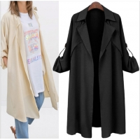 Pink Over Size 105cm Long Sleeve Indoor Autumn Ladies Coats Manufactures