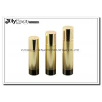China Height 161mm Airless Pump Bottles gold head cap bottle body cylinder foundation pump bottle on sale