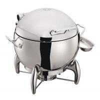 Round Mechanical Hinge Induction Soup Station Optional 11L Soup Bucket Stainless Steel Chafing Dish Manufactures