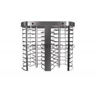 Fingerprint Reader Double Entrance Automatic Systems Turnstiles , Electronic Revolving Turnstile Manufactures
