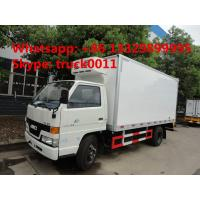 JMC 5ton cold room truck for fresh eggs and vegetables for sale, JMC brand 3-5tons frozen van truck for frozen seafood Manufactures