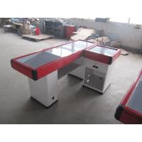 China Red Aluminum Bumper Cash Counter Table , Simple Retail Checkout Counter on sale