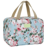 Waterproof Zippered Floral Travel Make Up Bag For Women Manufactures