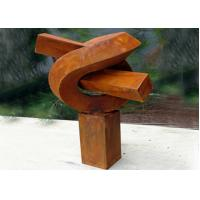Creative Modern Public Rusted Corten Steel Sculpture For Commercial Manufactures