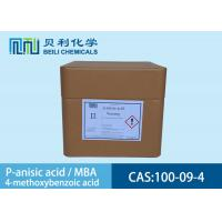 100-09-4 White Crystalline Powder P-Anisic Acid In Preservatives Manufactures