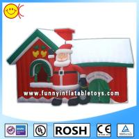 Giant Nylon Red Commercial Inflatable Bouncers Durable PVC Inflatable Combo Manufactures