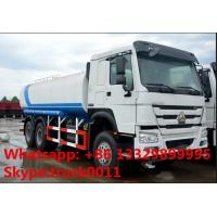 SINO TRUK HOWO 6*4 LHD/RHD 20,000L carbon steel water truck for sale, HOWO 336hp 20m3 water truck for drinkling water Manufactures