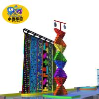 Outdoor Park Kids Rock Climbing Wall Plastic Fiberglas Wood Material Anti - UV Manufactures