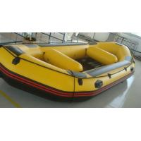 Quality Yellow Small PVC / Hypalon Rafting Inflatable Drift Boat For Summer for sale
