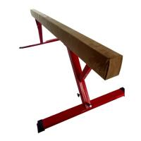 Oval Shape 8 Foot Balance Beam , Comfortable Suede Balance Beam Height Adjustable Manufactures
