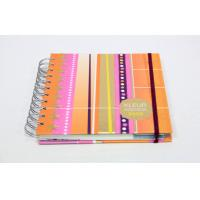 Quality CMYK Full Color Custom Spiral Notebook Printing Service With Elastic Binding for sale