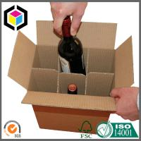 Wholesale Plain Brown Corrugated Cardboard Wine Packaging Carton Box with Dividers Insert Manufactures
