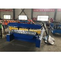 8 Kw Corrugated Roll Forming Machine , Roofing Sheet Metal Rolling Machine With PLC Control Manufactures