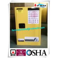 Steel Yellow Industrial Safety Cabinets For Laboratory Flammable / Dangerous Goods Manufactures