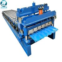 Hydraulic Cutting Glazed Tile Roll Forming Machine With 14 Roller Station Manufactures