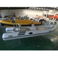 4.8meter Inflatable RIB Boats , Deep - V Fiberglass Hull Inflatable Fishing Dinghy Manufactures
