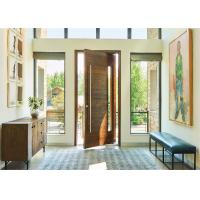 Modern Residential Solid Wood Interior Doors Waterproof Lobby Entrance Pivot Type Manufactures