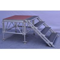 Anti - Slip Square Aluminum Folding Stage , Smart Mobile Outdoor Stage Platform Manufactures