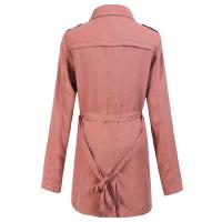Quality Orange Tencel Fashion Warm Womens Jackets Long Raincoat for Girls for sale