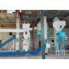 Ring Die Wood Pellet Production Line , 500kg/H Small Sawdust Pellet Line Manufactures