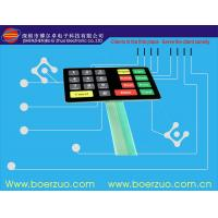 Quality Textured PET Single Side Flexible PCB Membrane Switch With Led Light for sale