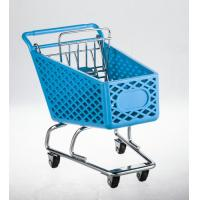 Wheeled shopping trolley With metal base and back gate in chrome plated Manufactures