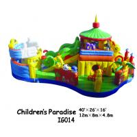 Children / Kids Inflatable Bounce House With Caterpillar Slide Fire Retardant Manufactures