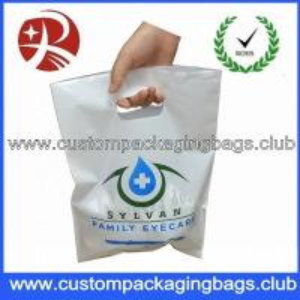 Custom Boutique Die Cut Handle Plastic Bags,Plastic Shopping Bags Die Cut Handle