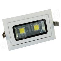 40w Rectangular Led Recessed Downlight LED Ceiling Light Fixtures CE ROHS C-tick Manufactures