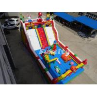 13L * 7W * 4 H M Mario Theme Inflatable Fun City With 0.55 Mm Pvc Tarpaulin Manufactures
