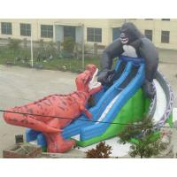 Commercial Inflatable Sports Games , Blue Sport Water Slide Pool Manufactures