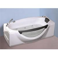 1800MM Small Portable Hot Tubs , Single Person Freestanding Whirlpool Tub With Light Manufactures