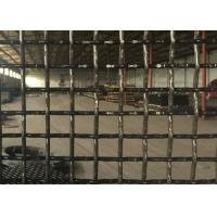 Square Pre Crimped Crimped Woven Wire Mesh Medium Carbon Steel For Sieve Quarry Manufactures
