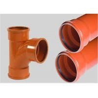 China Drainage Odorless Upvc Plastic PipeWide Water Flow Low Friction Losses on sale